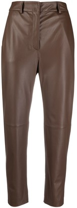 Peserico Cropped Leather Trousers