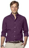 Chaps Big & Tall Classic-Fit Solid Poplin Button-Down Shirt