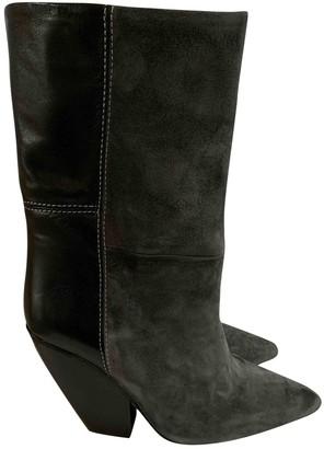 IRO Grey Suede Boots