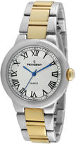 Peugeot Women's Two-Tone Roman Numeral Round Bracelet Watch