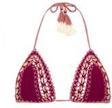 She Made Me Mihira embellished crochet bikini top