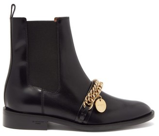 Givenchy Chain-embellished Leather Chelsea Boots - Black
