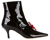 Dorateymur Continental Red Bow Patent Leather Booties