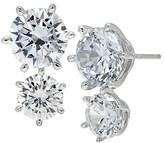 Crislu Double Stone Drop Earrings