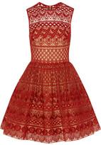 Elie Saab Cotton-Blend Guipure Lace Mini Dress
