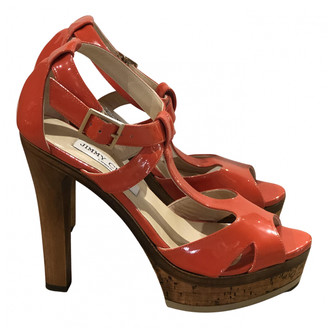 Jimmy Choo Orange Patent leather Sandals