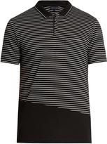 Lanvin Striped cotton-piqué polo shirt