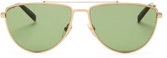 Givenchy Aviator Metal Sunglasses - Womens - Gold