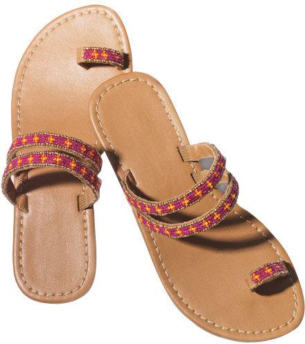 Avon Bead Embellished Toe Loop Sandal Size 9M