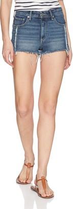 Lucky Brand Women's HIGH Rise Shortie Jean Short in SACATON 30