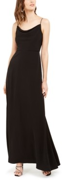 Adrianna Papell Cowlneck A-Line Gown
