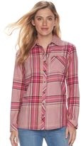 SONOMA Goods for Life Women's SONOMA Goods for LifeTM Essential Plaid Flannel Shirt