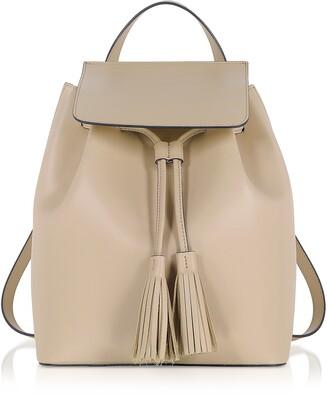 Genuine Leather Backpack w/Tassels