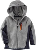 Osh Kosh Zip Up Hoodie (Toddler/Kid) - Grey - 4