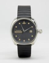 Vivienne Westwood Black Leather Strap Watch
