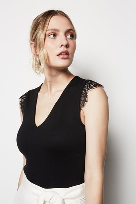 Karen Millen Lace Sleeve Top