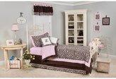 Pam Grace Creations Zara Zebra Bedding Set, Brown, White, Pink