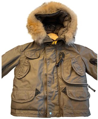 Parajumpers Khaki Polyester Jackets & Coats