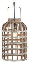 A&B Home Wood Iron Pendant Lamp - Grey