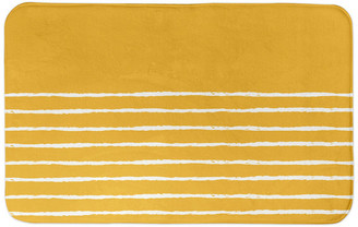 Designs Direct Creative Group Yellow Sketch Stripes 34x21 Bath Mat