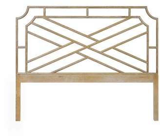 Worlds Away Open-Frame Headboard Size: King, Color: Off White