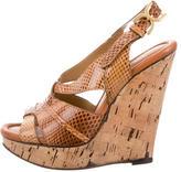 Chloé Snakeskin Wedge Sandals