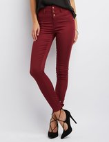 Charlotte Russe Refuge Hi-Waist Super Skinny Colored Jeans