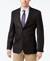 Lauren Ralph Lauren Men's Slim-Fit Charcoal Windowpane Sport Coat