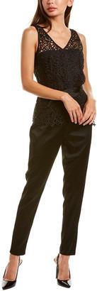Donna Karan Lace Bodice Jumpsuit