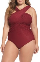 Miraclesuit Plus Size Women's High Neck One-Piece Swimsuit