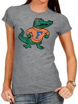 Original Retro Brand Unbranded Women's Heathered Gray Florida Gators Tri-Blend Crew Neck T-Shirt