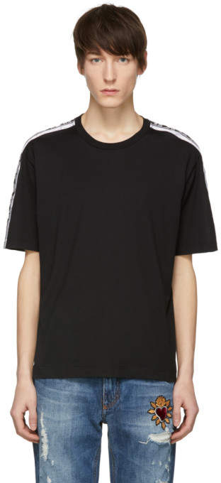 Dolce & Gabbana Black Logo Tape T-Shirt