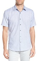 James Campbell Men's Print Sport Shirt