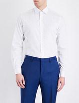 Duchamp Petite floral-print tailored-fit cotton shirt