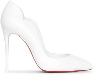 Christian Louboutin Hot Chick 100 white patent pumps