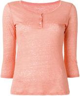 Majestic Filatures henley longsleeved T-shirt - women - Linen/Flax - 2