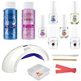 Ultimate Gelish Kit Complete Starter for Gel Polish by Hand & Nail Harmony - Set Includes Pro 45 LED Light Curing Lamp, Mini Basix Kit, 2 Gelish Colors & HumanFriendly Pill Case