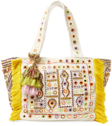 Antik Batik Kino Embroidered Cotton Tote