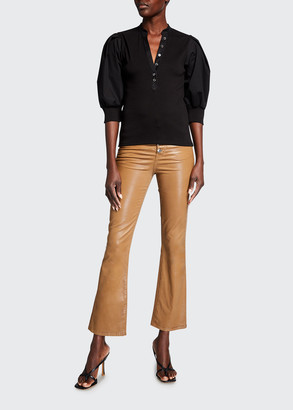 Veronica Beard Jeans Carolyn Kick-Flare Coated Jeans