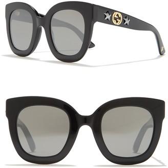 Gucci 48mm Oversized Cateye Sunglasses