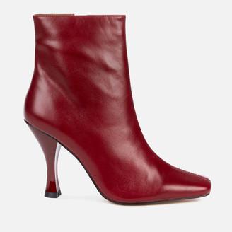 Kurt Geiger Women's Rocco Leather Heeled Boots - Wine