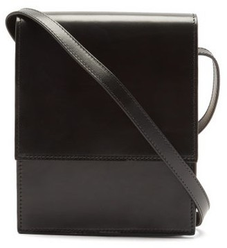 Lemaire Satchel Small Leather Cross-body Bag - Black