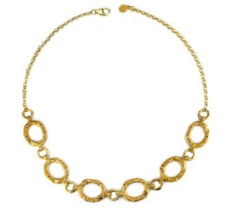 Annabelle Lucilla Jewellery Night's Sky Etched Chain Necklace