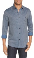 Faherty 'Seasons' Trim Fit Jaspé Cotton Sport Shirt