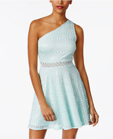 Material Girl Juniors' One-Shoulder Metallic Fit & Flare Dress, Created for Macy's