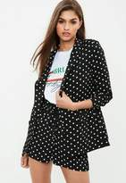 Missguided Tall Black Polka Dot Blazer, Black