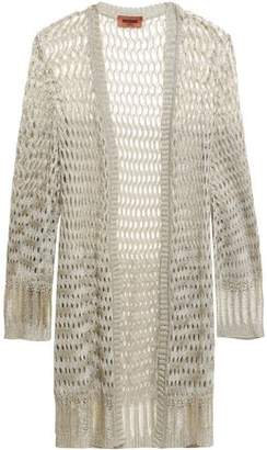 Missoni Metallic Open And Crochet-knit Cardigan