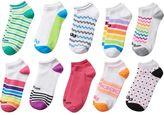 Dunlop Women's Wilson 10-pk. Striped & Geometric No-Show Socks
