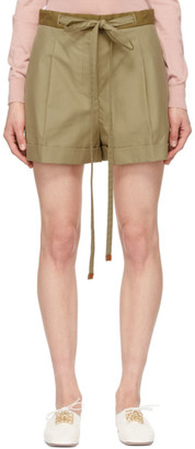 Loewe Beige Cotton Belted Shorts