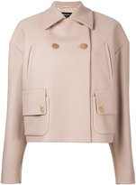Rochas cropped fitted jacket - women - Polyamide/Cupro/Cashmere/Wool - 40